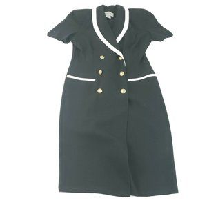 Vintage Danny & Nicole Black Button Up Sailor Dres